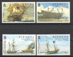 BERMUDA  2005 BATTLE OFTRAFALGAR,SHIPS SET MNH - Bermuda