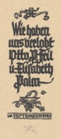 Verlovingskaart Otto P. Feil & Elisabeth Palm September 1945 - Otto Feil - Verlobung