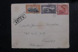CONGO BELGE - Enveloppe De Charlesville Pour La Belgique Par Avion En 1928 , Affranchissement Plaisant - L 46350 - Congo Belge