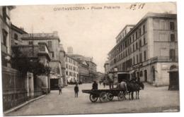 Civitavecchia - Piazza Plebiscito - !! Verso : Croce Rosa Comitato Di Distretto - Civitavecchia