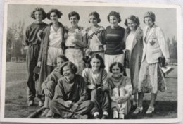 Foto Cromo Olimpiada De Los Ángeles. 1932. Nº 10. Canadá, Lillian Palmer, Eva Dawes, Alexandrine Gibb, Betty Taylor - Tarjetas
