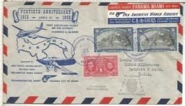 PANAMA 1952 SELLO CURIE VASCO NUÑEZ DE BALBOA MAR PACIFICO BADAJOZ - Esploratori