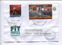 """FIT AMERICA LATINA - FERIA INTERNACIONAL DE TURISMO"" VIÑETA - ARGENTINA ENVELOPPE CIRCULEE 2007. TANGO -LILHU - Vacaciones & Turismo"