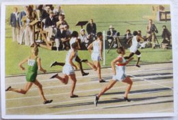 Foto Cromo Olimpiada De Los Ángeles. 1932. Nº 18. Atletismo 200 Metros, USA Tolan, Simpson, Metcalfe. Hecho 1936 Berlín - Trading Cards