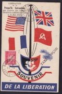LIBERATION: SAINT NAZAIRE CARTE SOUVENIR GUERANDE PETAIN 1F TAXE PERCUE SURCHARGE LIBERATION   SIGNE CALVES COTE PM 300E - Libération