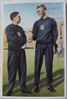 Foto Cromo Olimpiada De Los Ángeles. 1932. Nº 21. Atletismo 400 Metros, USA Ben Eastman, Bill Carr. Hecho En 1936 Berlín - Tarjetas