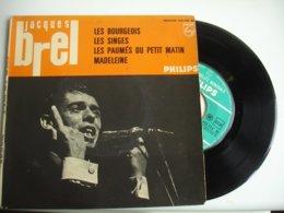 Jacques Brel  Lot 3 Disque 45 T 4 Titre Philipps Les Bougeois Mon Enfance 1 De 6 Titre 2 Eme Serie - 45 T - Maxi-Single