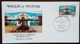 Wallis Et Futuna - FDC 1984 - YT Aérien N°141 - AUTEL DE LA CHAPELLE DU MONT LULU - FDC