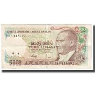 Billet, Turquie, 5000 Lira, 1970, 1970-10-14, KM:197, TTB - Turkije
