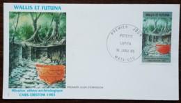 Wallis Et Futuna - FDC 1985 - YT N°322 - CRNS ORSTOM / POTERIE LAPITA - FDC