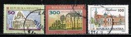 Hrvatska 1992 - 3 Zegels/timbres/stamps/briefmarken Yv. 156, 159, 179 Used / Gebr / Obl. - Croatie