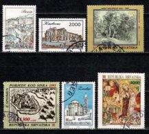 Hrvatska 1993 - 6 Zegels/timbres/stamps/briefmarken Yv. 189, 195, 204, 206, 213, 216 Used / Gebr / Obl. - Croatie
