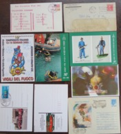 48 Cover/post Card+1 Autoadesivo Dei Vigili Del Fuoco/Sapeurs Pompiers/Firemen/Feuerwehr - Altri