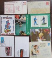 48 Cover/post Card+1 Autoadesivo Dei Vigili Del Fuoco/Sapeurs Pompiers/Firemen/Feuerwehr - Postcards