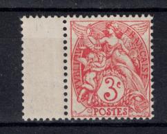 TIMBRE TYPE BLANC N° 109 Au TYPE 1A En NUANCE ROUGE N° 109b En NEUF ** BORD DE FEUILLE LUXE - 1900-29 Blanc