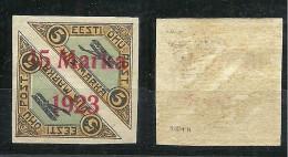 ESTLAND ESTONIA 1923 Michel 45 B II Distance 2,.. Mm * - Estland