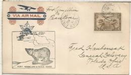 CANADA CC PRIMER VUELO FORT VERMILLION TO PEACE RIVER OSO BEAR 1931 - Osos