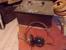 WWII POSTE DE TRANSMISSION DANS SON JUS 2 EME GUERRE MONDIALE - Radio's