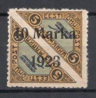 ESTLAND ESTONIA 1923 Michel 43 A Signed Roig Etc * - Estonia