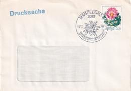 Germany DDR 1990 Cover; Flora Flowers;  Exotic Flowers Collection Magdeburg Städtische Gewächshäuser - Pflanzen Und Botanik