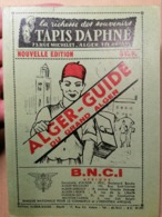 Old Tourist Brochure ALGER - GUIDE ALGERIA ALGIERS 2 X Large Map Many Advertising Reclame & Pictures - Livres, BD, Revues