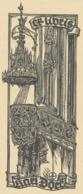 Ex Libris Karl Dorr - Otto Feil Houtsnede - Ex-libris
