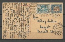ESTLAND ESTONIA 1924 Post Card O PÕLTSAMAA Franked With Michel 26 & 12 Y - Estonia