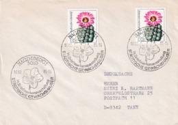 Germany DDR 1985 Cover; Flora Flowers;  Cactus Kaktus Magdeburg Städtische Gewächshäuser Exhibition - Pflanzen Und Botanik