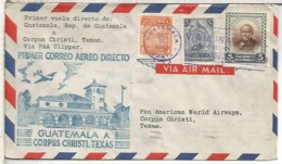 GUATEMALA CC PRIMER VUELO 1946 CORPUS CHRISTI TEXAS - Guatemala