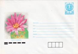 Bulgaria 1989 Postal Stationery Cover; Flora Flowers;  Cactus Kaktus Mamilaria - Pflanzen Und Botanik