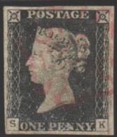 1840 Yvert Nº 1, One Penny Black - 1840-1901 (Victoria)