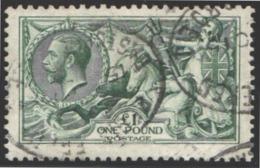 1912-22   Yvert Nº 156, One Pound. Blue-green. - Usados