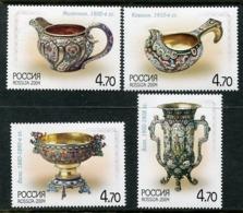 RUSSIA 2004 Silver Tableware MNH / **.  Michel 1212-15 - 1992-.... Federazione