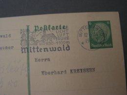 Mittenwald SST Auf Karte Nach Starnberg 1934 - Allemagne