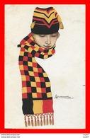 CPA Illustrateur G. NANNI.  Tête De Femme, Bonnet Et Cache-col...CO2223 - Nanni