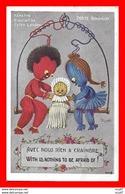 CPA HUMOUR. Illutrateur RIGHT.  Nénette, Rintintin Et Le Petit Lardon, Porte Bonheur...CO2203 - Humour