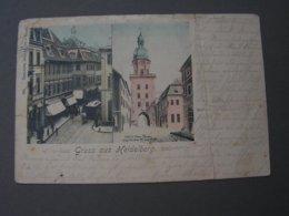 Heidelberg Karte Mit Bug Sehr Alt Nach Stuttgart - Heidelberg