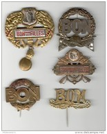 Lot De 5 Badges Métalliques De Conscrits - 1910 à 1935 - Andere