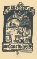Ex Libris Hans Winkler 1955 - Otto Feil - Ex-libris