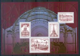 France 2018   Paris Philex  Trianon  Invalides  Tour Eiffel   Pont Alexandre . - Blocs & Feuillets