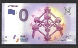 Billet 0 Euro BELGE L.ATOMIUM De 2017.1 - EURO