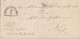 Bayern Brief Ludwigsstadt 23.2.(1858) Gel. Nach Hof Mit Inhalt Ansehen !!!!!!!!!!!!!! - Bayern