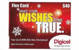 Grenada - Digicel - Flex Card, Make Your Christmas Wishes, Smaller Size GSM Refill 40EC$, Exp. 18.09.2012, Used - Grenada