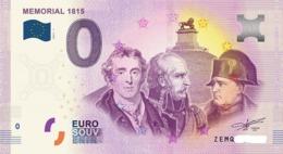 Billet 0 Euro BELGE MEMORIAL DE 2017.1 - EURO