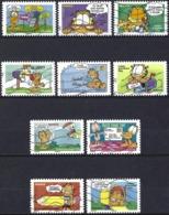 France 2008 - Mi 4496/505 - YT Ad 194/203 Ou 4271/80 ( Cat Garfield De Jim Davis ) Complete Set - Luchtpost