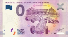 Billet 0 Euro BELGE CIRCUIT SPA DE 2018.1 - Private Proofs / Unofficial