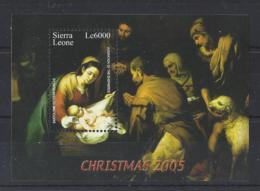 """SIERRA LEONE...QUEEN ELIZABETH II.(1952-NOW)......"""" CHRISTMAS...2005..."""".....MINI SHEET.....MH... - Noël"""