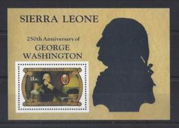 "SIERRA LEONE...QUEEN ELIZABETH II.(1952-NOW)..."" GEORGE WASHINGTON ."".......MINI SHEETS. ...MH... - George Washington"
