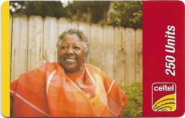 Sierra Leone - Celtel - Old Lady, GSM Refill 250Units, Used - Sierra Leone