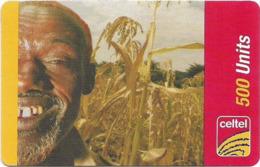 Sierra Leone - Celtel - Old Man In A Plantation, GSM Refill 500Units, Used - Sierra Leone